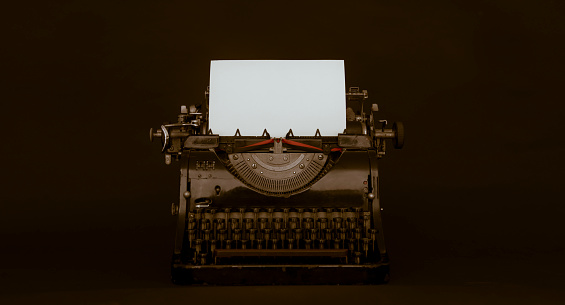 Writing「Retro Style Typewriter」:スマホ壁紙(12)