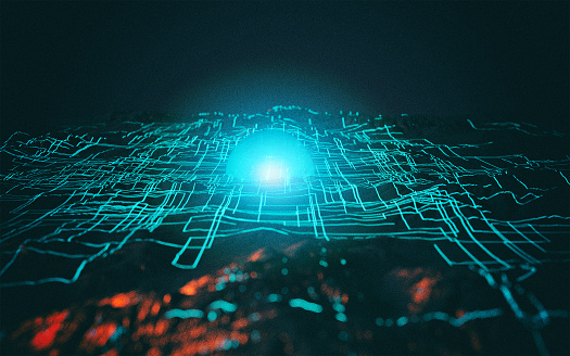 Big Data「Abstract data background」:スマホ壁紙(5)