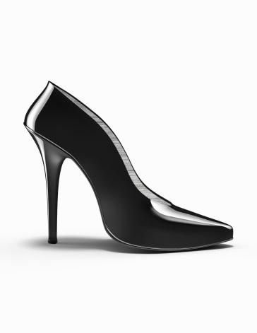 Girly「Black high-heeled shoe」:スマホ壁紙(1)