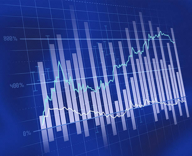 Blue business chart:スマホ壁紙(壁紙.com)