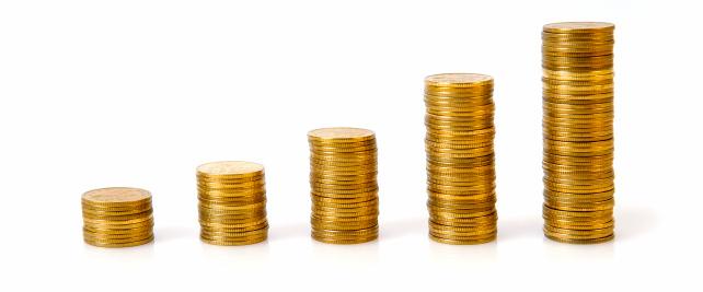 金運「ビジネスグラフの硬貨」:スマホ壁紙(12)