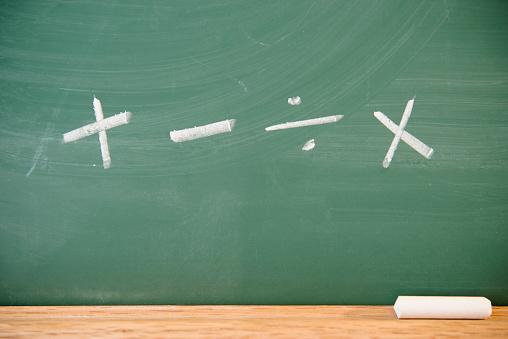 Chalk - Art Equipment「Mathematical symbols on chalkboard」:スマホ壁紙(3)