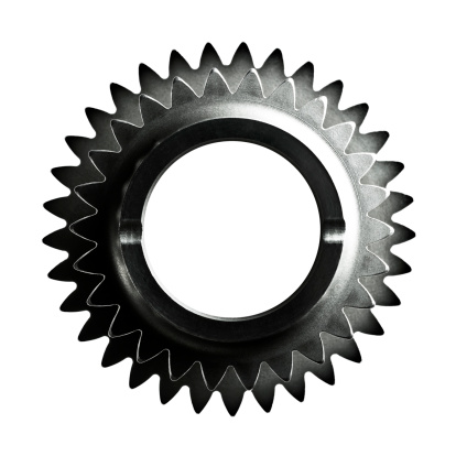 Coordination「Close-up of two steel gears / cogs on white backgr」:スマホ壁紙(12)