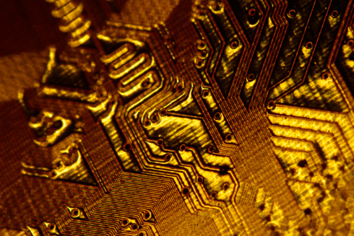 Soldered「Close-up of gold circuitry」:スマホ壁紙(1)