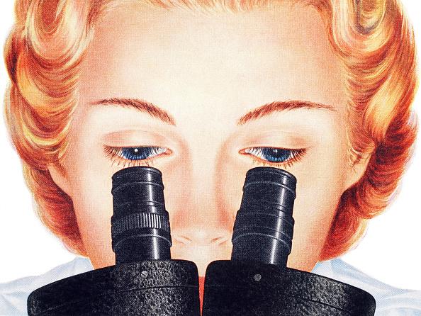 Science「Woman Looking In Microscope」:写真・画像(3)[壁紙.com]