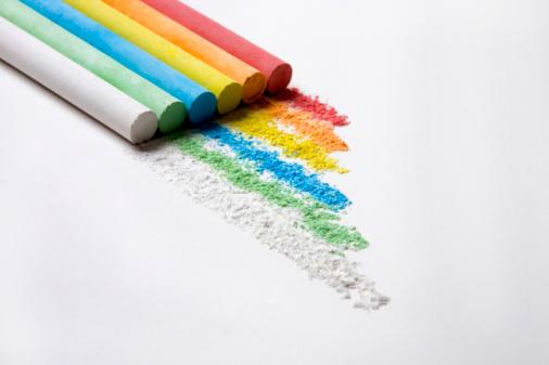Chalk - Art Equipment「Close-up of multi-colored chalk sticks」:スマホ壁紙(12)
