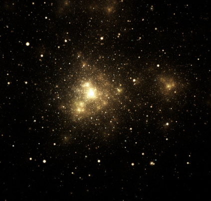 Star - Space「Close-up of shiny nebula with surrounding stars in galaxy」:スマホ壁紙(1)