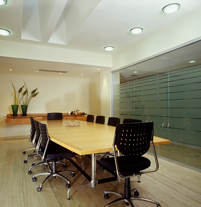 Convention Center「Close-up of empty modern conference room」:スマホ壁紙(11)