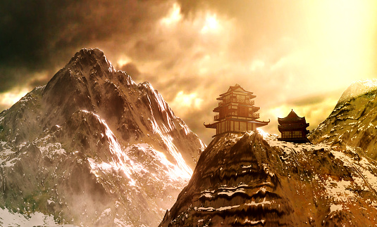 Satoyama - Scenery「Temple on top of the mountain」:スマホ壁紙(3)