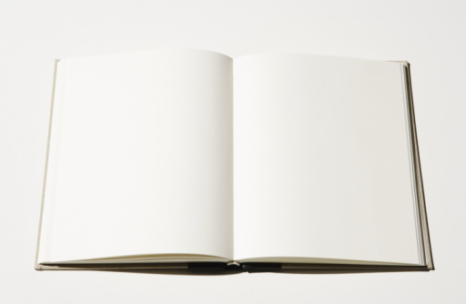 Book「Open book with blank pages, close-up」:スマホ壁紙(7)