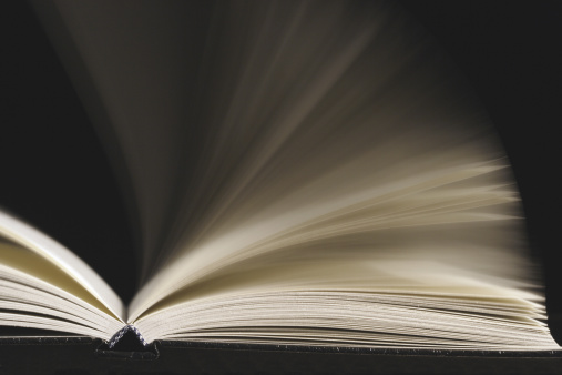 Hardcover Book「Open book with pages being flipped (blurred motion)」:スマホ壁紙(11)