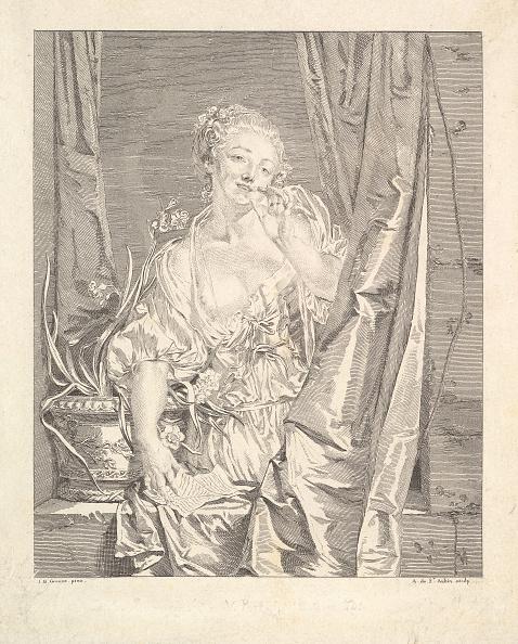 Etching「Le Baiser Envoyé (Blowing A Kiss) Creator: Augustin De Saint-Aubin」:写真・画像(10)[壁紙.com]