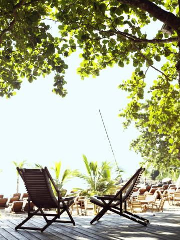 Deck Chair「Deck chairs on a sunny patio」:スマホ壁紙(5)