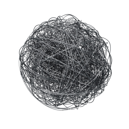 Steel Cable「Metal wire ball」:スマホ壁紙(19)