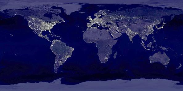 Illuminated「Earth's City Lights at Night」:写真・画像(0)[壁紙.com]