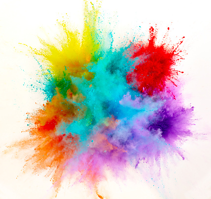 Art「Exploding Colored Powder」:スマホ壁紙(7)