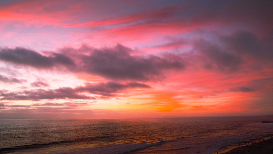 Mexico「A cloudy and colorful sunset on the Pacific Coast of Mexico」:スマホ壁紙(17)