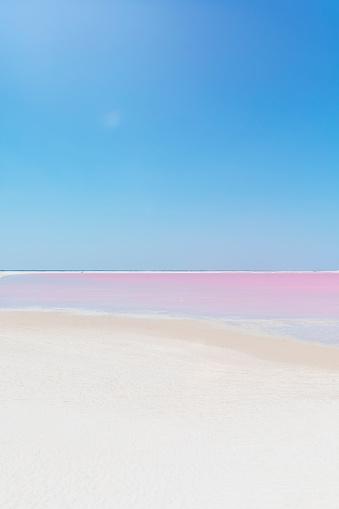 Mexico「Mexiko, Yucatan, Las Coloradas, Pink Lake salt lake」:スマホ壁紙(1)