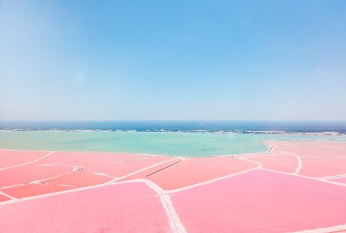 Mexico「Mexiko, Yucatan, Las Coloradas, Pink Lake salt lake」:スマホ壁紙(8)