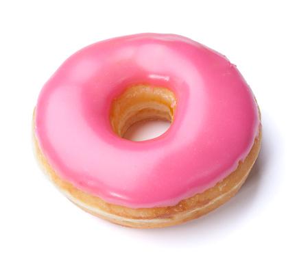Doughnut「Pink Donut + Clipping Path」:スマホ壁紙(18)