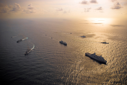 Emergency Services Occupation「A multi-national naval force navigates the waters of the Caribbean Sea.」:スマホ壁紙(1)