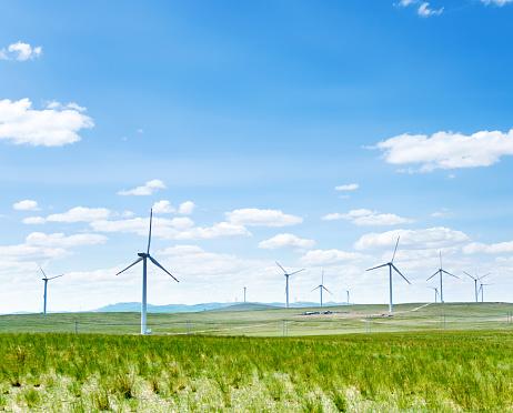 Mill「Wind power generation in grassland」:スマホ壁紙(15)