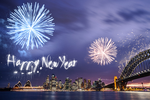 花火「新年の日花火大会やシドニーでお祝い」:スマホ壁紙(0)