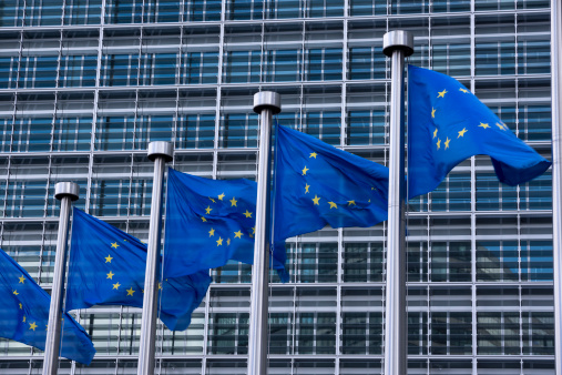 Belgium「Belgium, Brussels, European Commission, European flags at Berlaymont building」:スマホ壁紙(14)