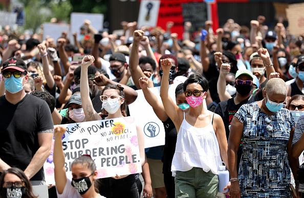 New Jersey「Anti-Racism Protests Held In U.S. Cities Nationwide」:写真・画像(17)[壁紙.com]
