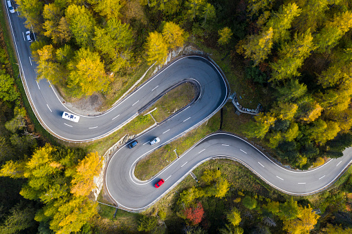 Hairpin Curve「Mountain Maloja Pass in Swiss Alps, Aerial View」:スマホ壁紙(17)