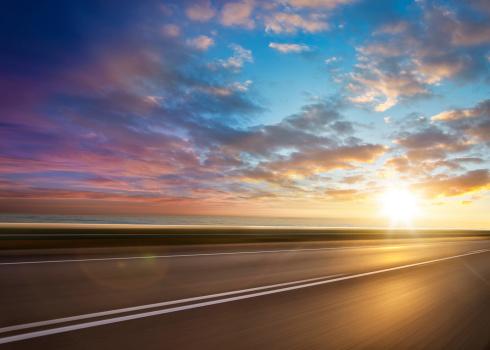Road Marking「Ocean Sunset Road」:スマホ壁紙(2)