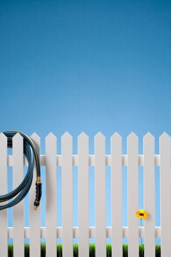 Planting「White Picket Fence & Hose With Single Flower」:スマホ壁紙(13)