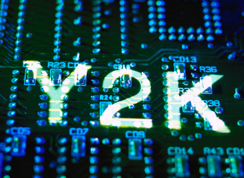 Projection Equipment「Y2K Projected on a Computer Circuit Board」:スマホ壁紙(6)