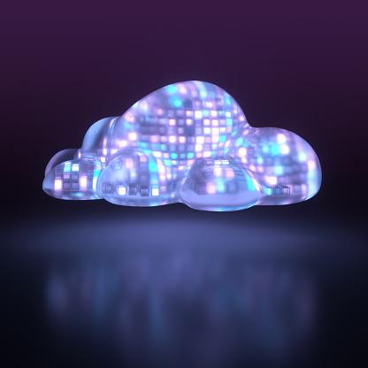 Quantum Computing「Cloud computing illustration」:スマホ壁紙(16)