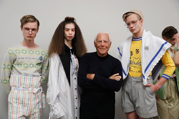Giorgio Armani - Designer Label「Yoshio Kubo / Moto Guo / Consistence - Backstage - Milan Men's Fashion Week Fall/Winter 2017/18」:写真・画像(14)[壁紙.com]