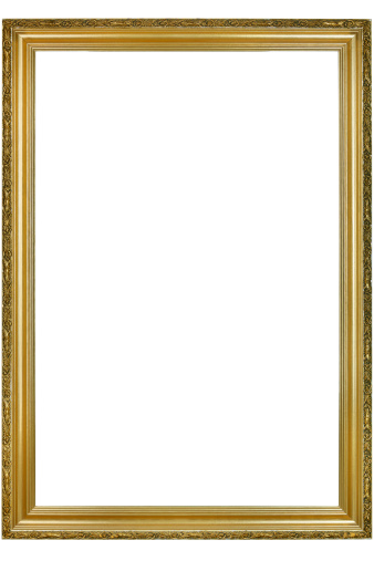 Intricacy「Classic Gold Picture Frame With Clipping Path」:スマホ壁紙(3)