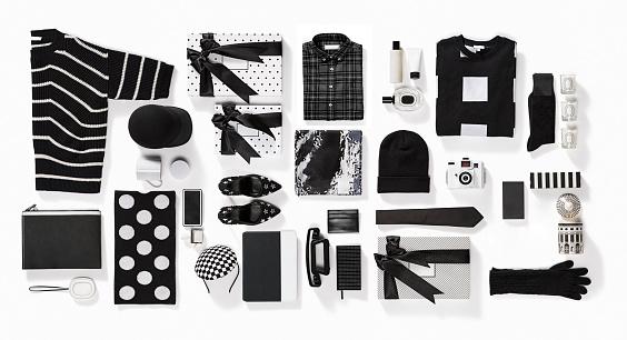 Dress「Luxury fashionable clothing and stationery items flat lay on white background」:スマホ壁紙(19)