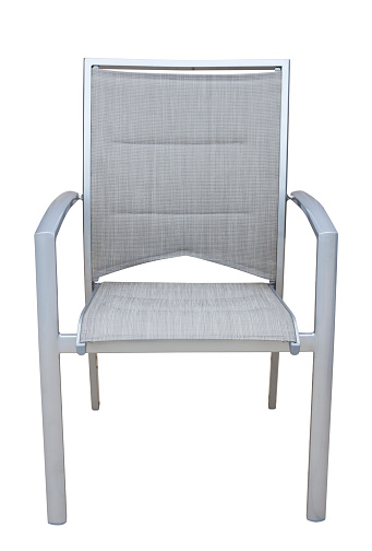Deck Chair「Outdoor chair from aluminium isolated on white background」:スマホ壁紙(12)