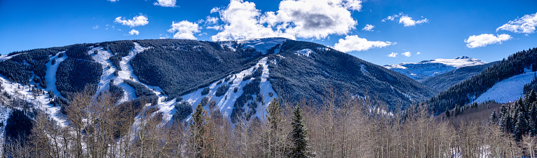 ゴア山地「Beaver Creek Panorama with Ski Runs」:スマホ壁紙(12)