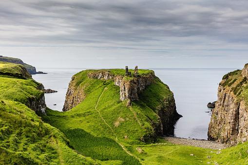 Northern Ireland「Dunseverick Northern Ireland Causeway Road Coastal Landscape」:スマホ壁紙(1)