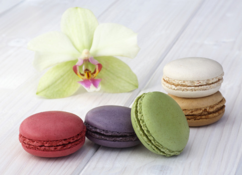 Macaroon「Colourful French macaroons with matching orchid」:スマホ壁紙(16)