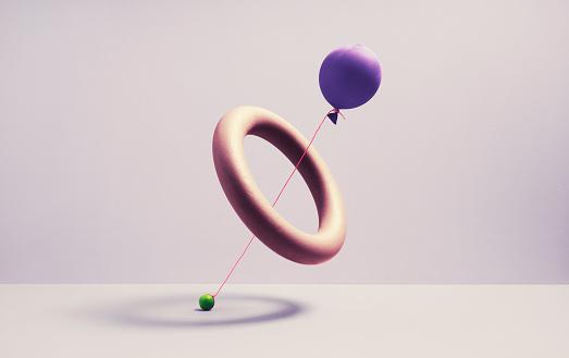 Bizarre「A ballon trying to drag a marble threw a spherical ring」:スマホ壁紙(18)