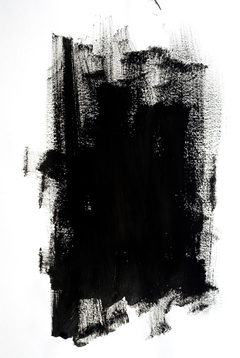 Brush Stroke「Black Paint」:スマホ壁紙(11)