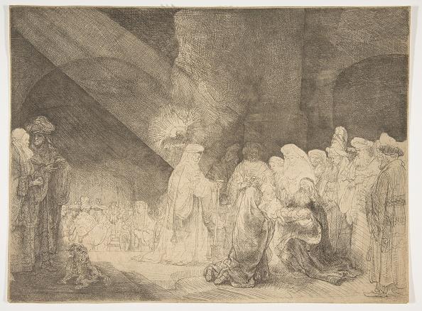 Rectangle「The Presentation In The Temple: Oblong Plate Creator: Rembrandt Harmensz Van Rijn」:写真・画像(1)[壁紙.com]