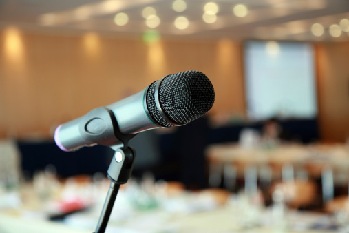 Convention Center「microphone at a lecture hall」:スマホ壁紙(10)