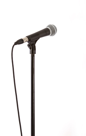 Cable「Microphone with clipping path isolated on white」:スマホ壁紙(5)