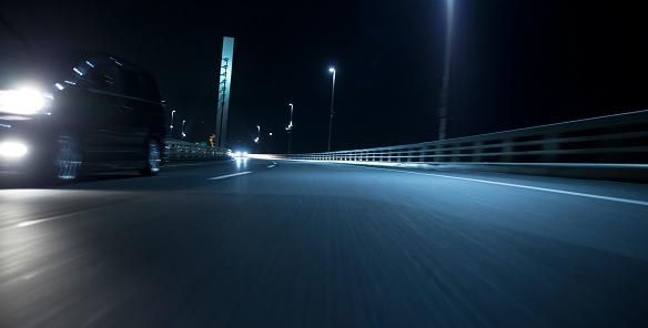 Driving「Night traffic」:スマホ壁紙(14)