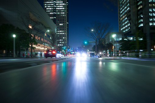 City Life「Night traffic」:スマホ壁紙(11)