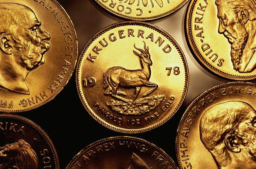 1980-1989「Gold Krugerrand Coins」:スマホ壁紙(8)