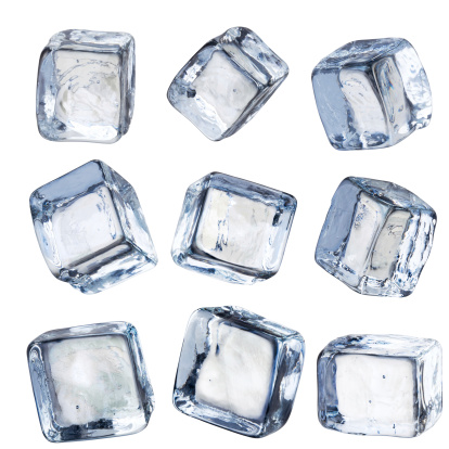 Square - Composition「Nine Individual Square Ice Cubes Isolated with Clipping Path」:スマホ壁紙(7)